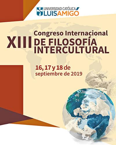 Afiche del XIII Congreso Internacional de Filosofía Intercultural de la Universidad Luis Amigó