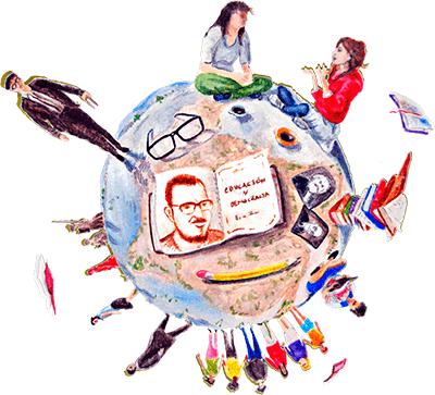Collage de ilustraciones relacionadas con Estanislao Zuleta