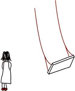 """Cristina se baja del columpio"" de Oscar Hernández Monsalve. Diseño de carátula por Tatiana Hernández y Sandra Sansón."