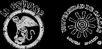Logos del Teatro La Esfinge y de la Universidad de Caldas