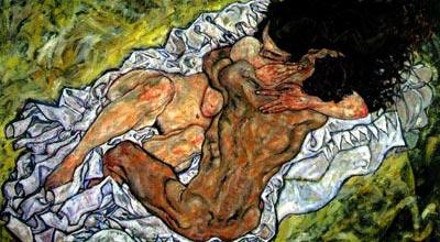"""""""Abrazo"""" de Egon Schiele (1890-1918)"""