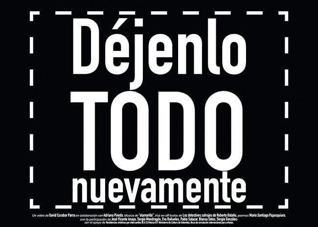 David Escobar Parra: «Déjelo todo nuevamente»
