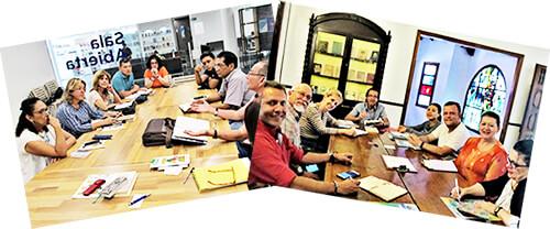 Dos fotos del Grupo Literario «El Aprendiz de Brujo»