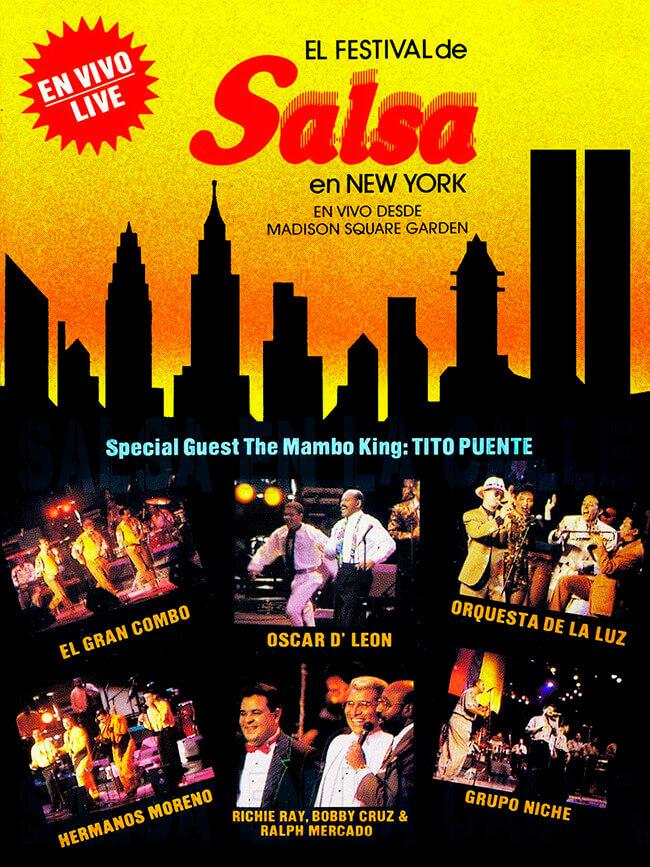 Afiche de «El festival de salsa en New York en vivo desde Madison Square Garden» (1991)