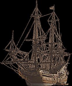 Ilustración de un barco antiguo