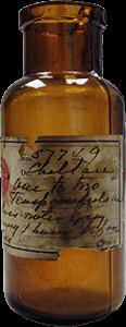 Foto de un frasco de medicina