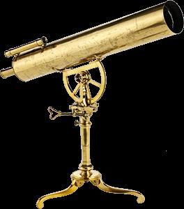 Foto de un telescopio antiguo