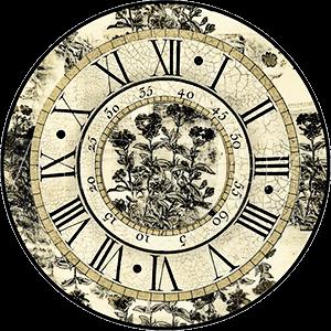 Ilustración de un reloj antiguo