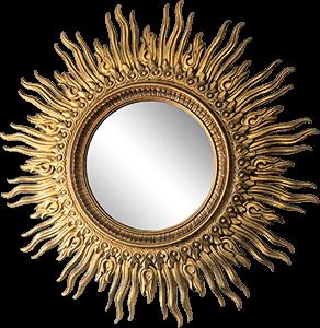 Ilustración de un espejo que parece el Sol