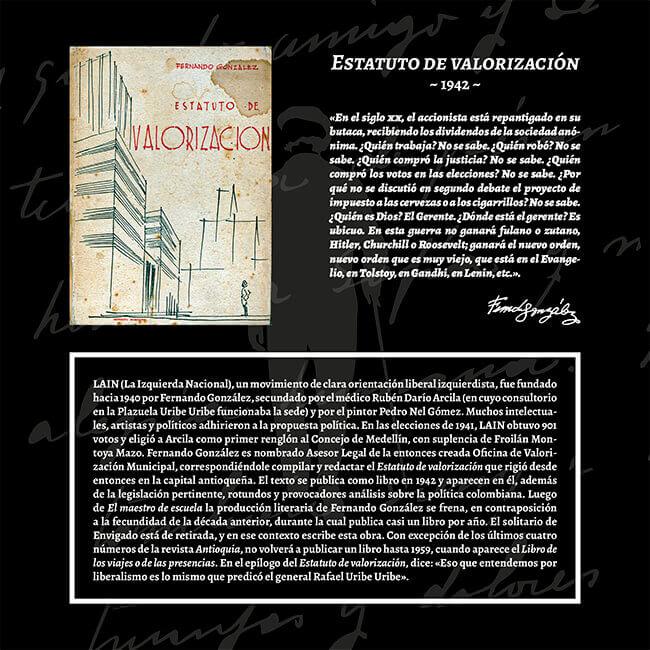 Exposición «El viaje a la Presencia» - Estatuto de valorización (1942)