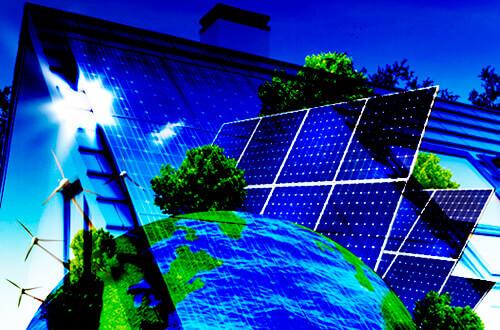 Ilustración de la energía solar fotovoltaica
