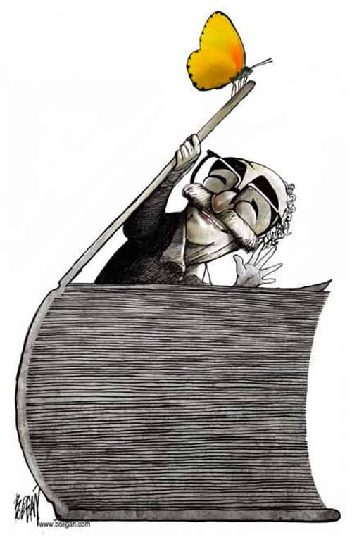 Gabriel García Márquez / Ilustración © Ángel Boligán