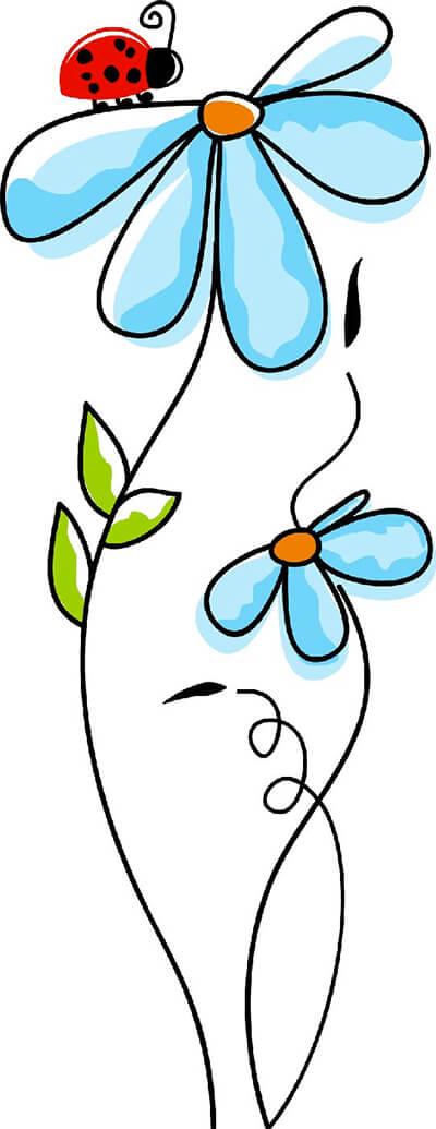 Una mariquita sobre una flor