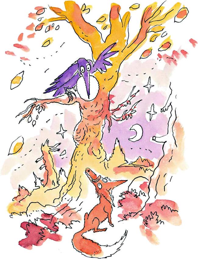 Ilustración de las fábulas de Jean de La Fontaine - Ilustración © Joann Sfar