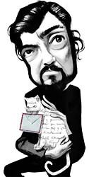 Julio Cortázar ilustrado por Fernando Vicente