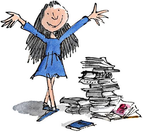 Ilustración de Matilda por Quentin Blake