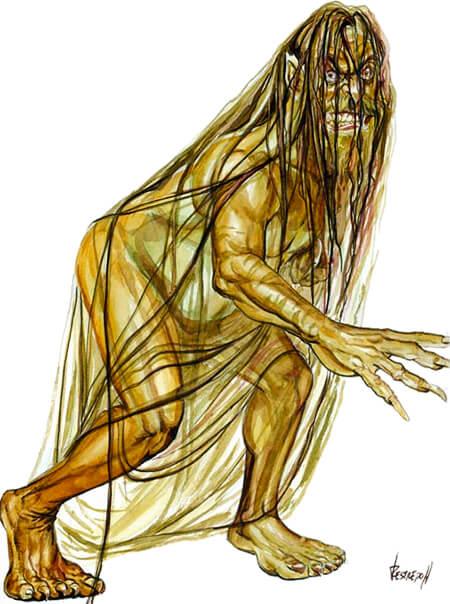 Ilustración de «El Mohán» por Restrepo