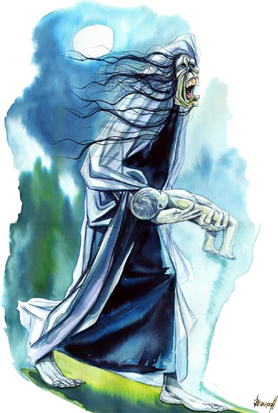 Ilustración de «La Patasola» por Restrepo
