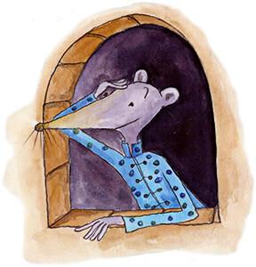 Ilustración de Olga Cuellar para el libro «Ratones chinos» de Jairo Aníbal Niño.