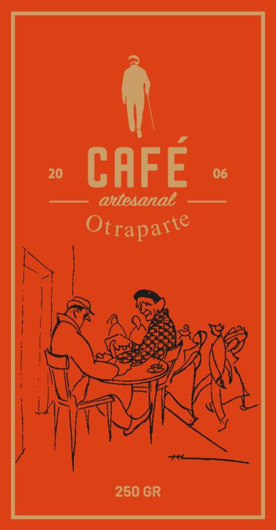 Etiqueta anterior del Café Otraparte
