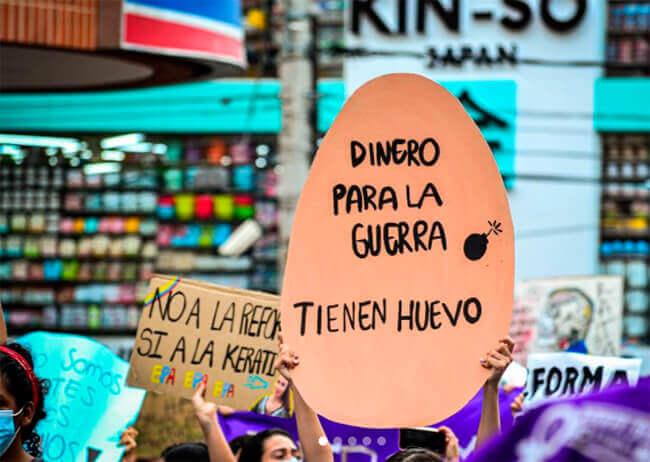 Imagen de las protestas de 2021 en Colombia
