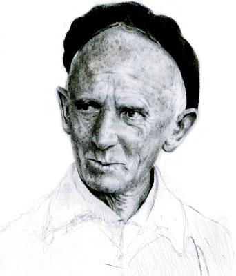 Fernando González - Ilustración de Daniel Gómez Henao, basada en fotografía de Guillermo Angulo
