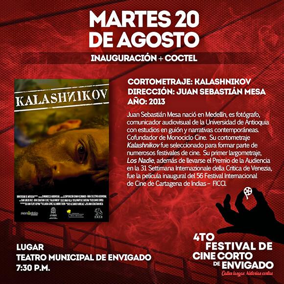 Invitación a la inauguración del 4.º Festival de Cine Corto de Envigado
