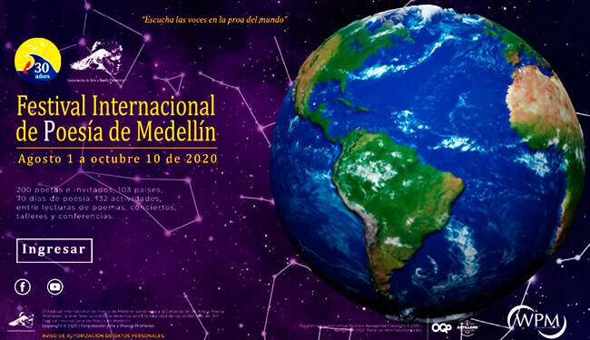Cartel del XXX Festival Internacional de Poesía de Medellín
