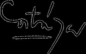 Firma de Julio Cortázar