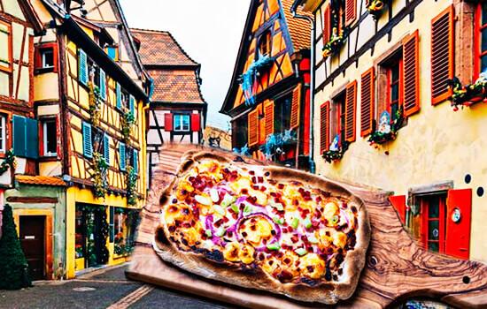 Flammkuchen: la «pizza» de Alsacia