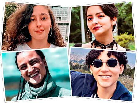 María José Palacio Osorio, María Paula del Pilar Ramírez Carvajal, Samuel Sebastián Jaramillo García y Santiago Sánchez Velásquez