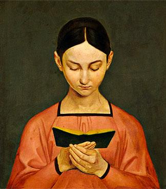 """""""Girl Reading"""" por Gustav Adolph Henning"""