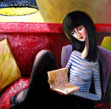 """""""Girl with a Book"""" por Nana Quparadze"""