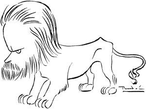 León de Greiff (1895 - 1976) - Caricatura por Ricardo Rendón