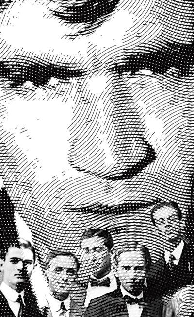 Ilustración / montaje de Gonzalo Arango y algunos jóvenes colaboradores del periódico La Fragua (1913).