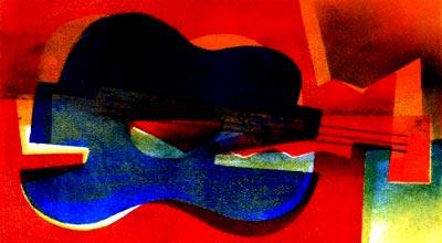 Guitarra de Picasso por Anette Lewin