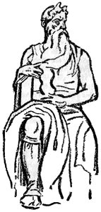 """Moisés - Ilustración de """"El Hermafrodita dormido"""" de Fernando González - 1933"""