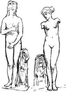 """Venus Capitolina - Ilustración de """"El Hermafrodita dormido"""" de Fernando González - 1933"""