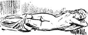 """El Hermafrodita dormido - Ilustración de """"El Hermafrodita dormido"""" de Fernando González - 1933"""