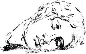 """Cabeza de Furia dormida - Ilustración de """"El Hermafrodita dormido"""" de Fernando González - 1933"""