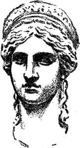 """Cabeza de Hera, la Juno Ludovisi - Ilustración de """"El Hermafrodita dormido"""" de Fernando González - 1933"""