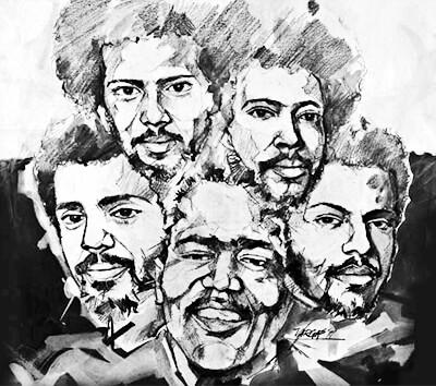 Los Hermanos Lebrón / Ilustración © Jorge Vargas para HerenciaLatina.com