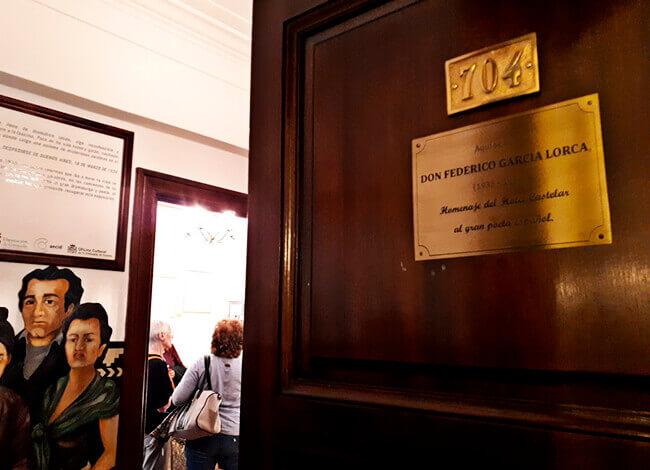 Hotel Castelar - Habitación 704 - «Aquí se alojó don Federico García Lorca»»