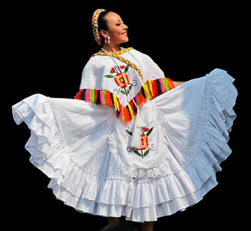 Bailadora de huapango mexicano