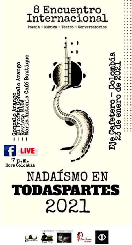 Afiche de la VIII Internacional Nadaísta en el Eje Cafetero