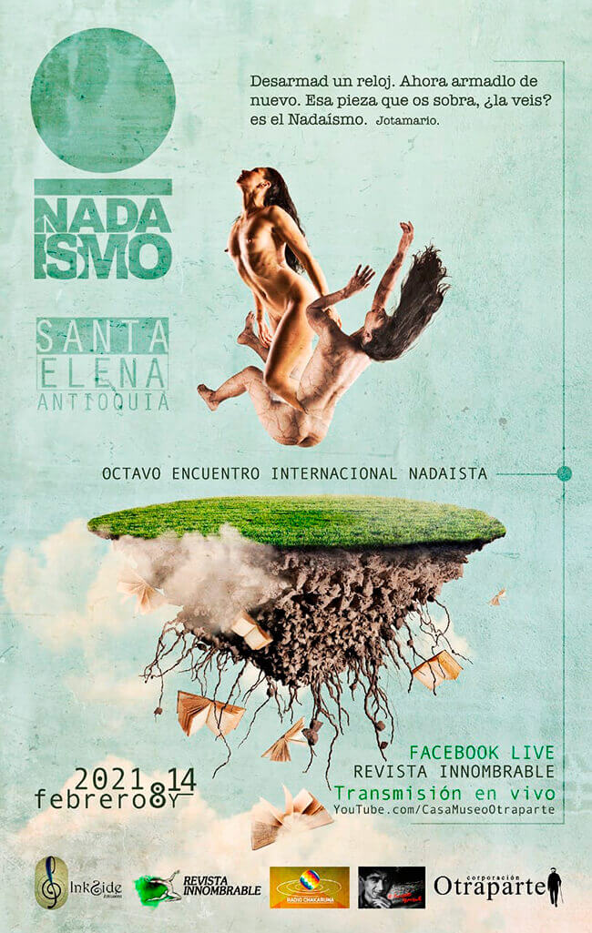 Afiche de la VIII Internacional Nadaísta en Santa Elena