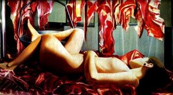 "De la serie ""Somos carne"" - Pintura de Jonathan Cadavid"
