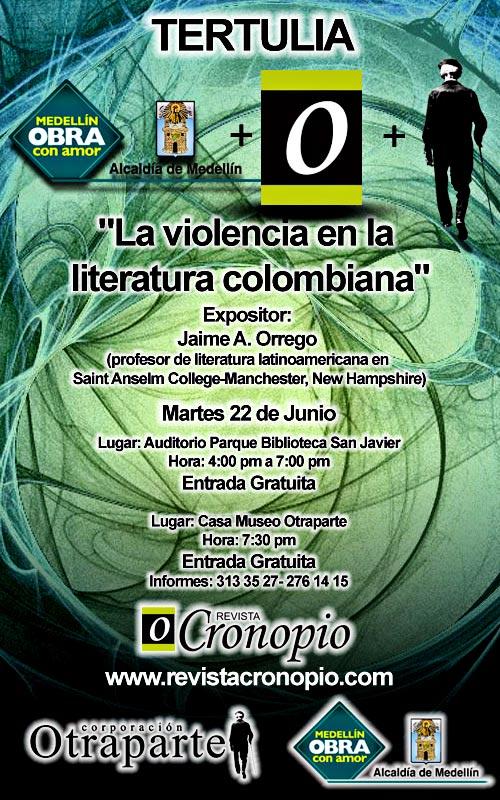 """Conferencia """"La violencia en la literatura colombiana"""" por Jaime Orrego"""