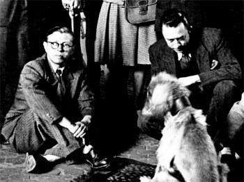 Jean Paul Sartre y Albert Camus