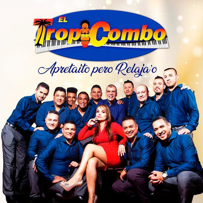 Portada del disco «Apretaíto pero relajao» de la Orquesta El Tropicombo de Jorge Cottes
